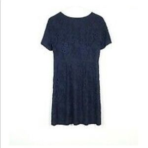 Madewell navy lace dress